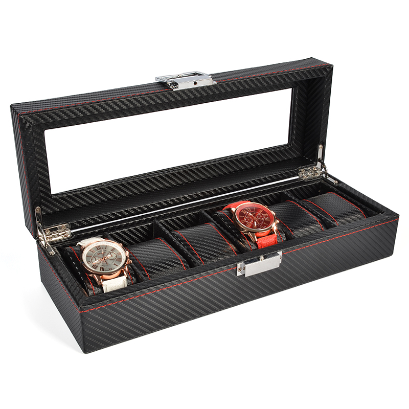 2019 New 6 Grids Watch Case Watch Boxes Casing for Hours Sheath for Hours Box for hours Watch 61 hours