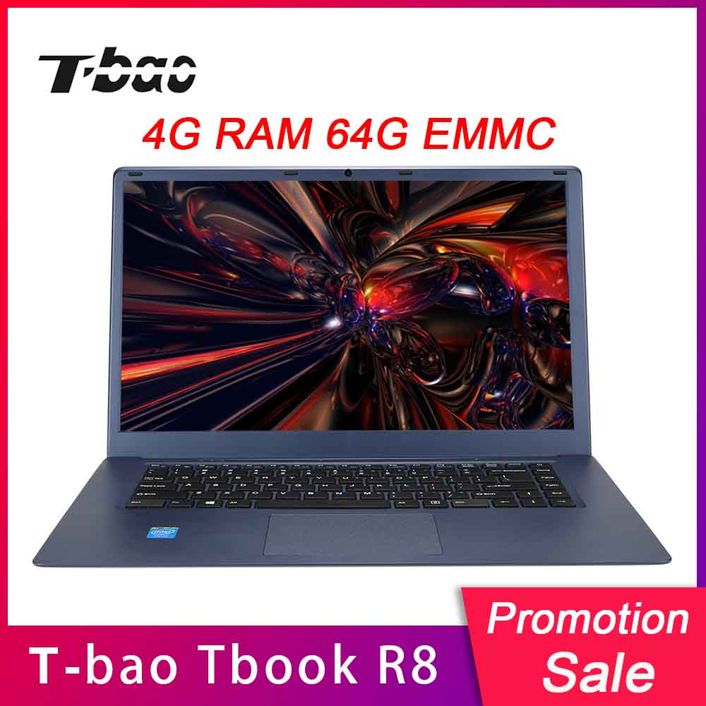 T-bao Tbook R8 Notebook Laptop Laptops 15.6 Inch 4GB DDR3 RAM 64GB EMMC Laptops Notebook PC Portable Computer 1080P FHD Screen