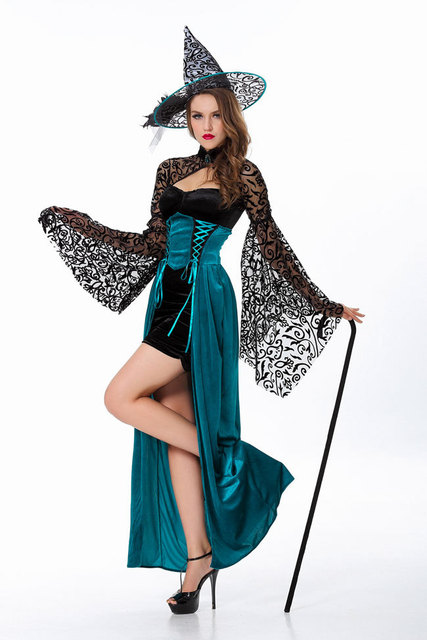 new long sleevefull witch costumesfemale sexy devil cosplayfemale witch halloween - Witch Halloween Costumes For Girls
