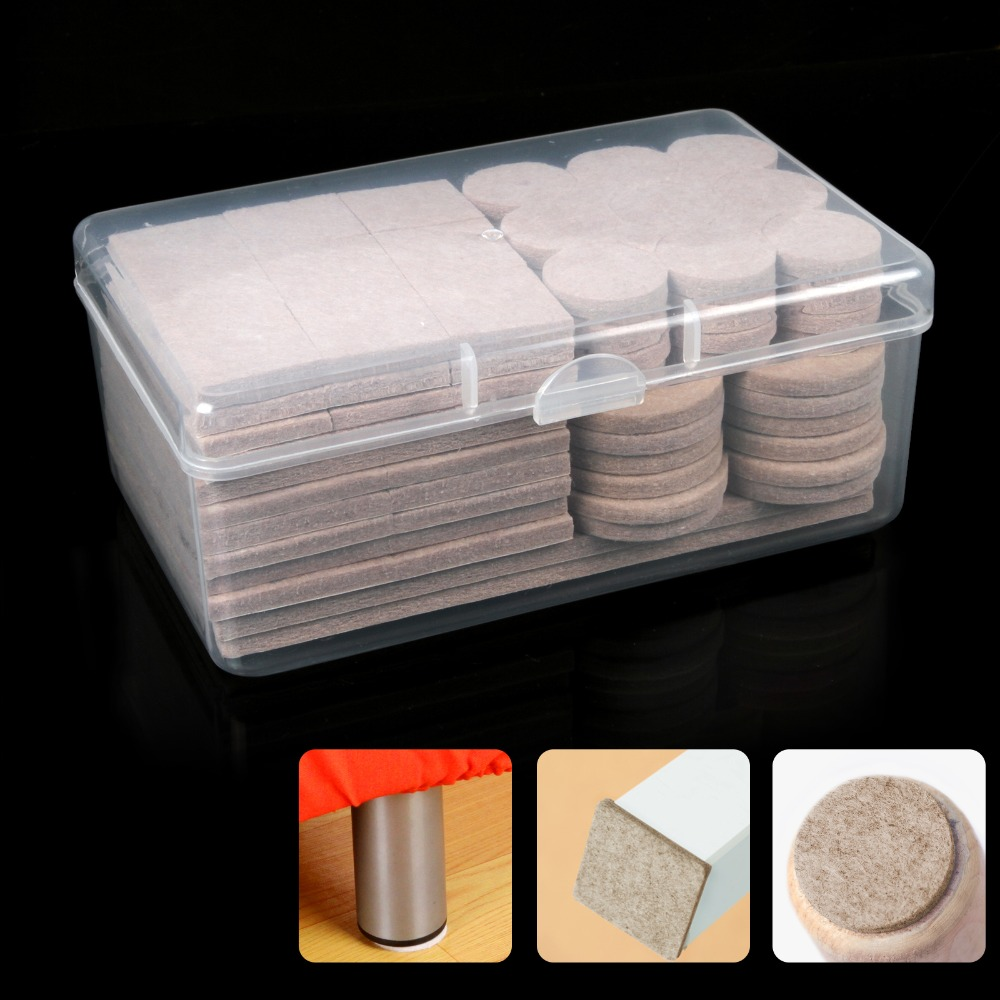128pcs  Self Adhesive Furniture Leg Feet Rug Felt Pads Anti Slip Mat Bumper Damper For Chair Table Protector Hardware