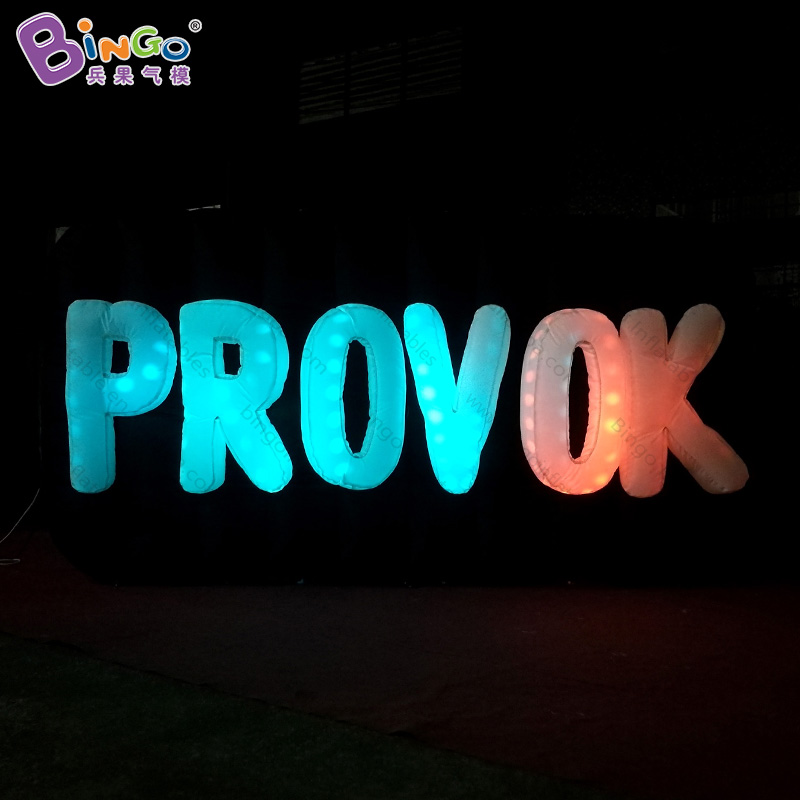 Customized 16 colors change 3X0.5X1.5 Meters inflatable letters wall promotional LED lighting inflatable alphabet blow-up toysCustomized 16 colors change 3X0.5X1.5 Meters inflatable letters wall promotional LED lighting inflatable alphabet blow-up toys