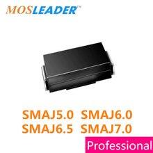 500 pièces DO214AC SMA SMAJ5.0 SMAJ5.0A SMAJ5.0CA SMAJ6.0 SMAJ6.0A SMAJ6.0CA SMAJ6.5 SMAJ6.5A SMAJ6.5CA SMAJ7.0 SMAJ7.0A SMAJ7.0CA