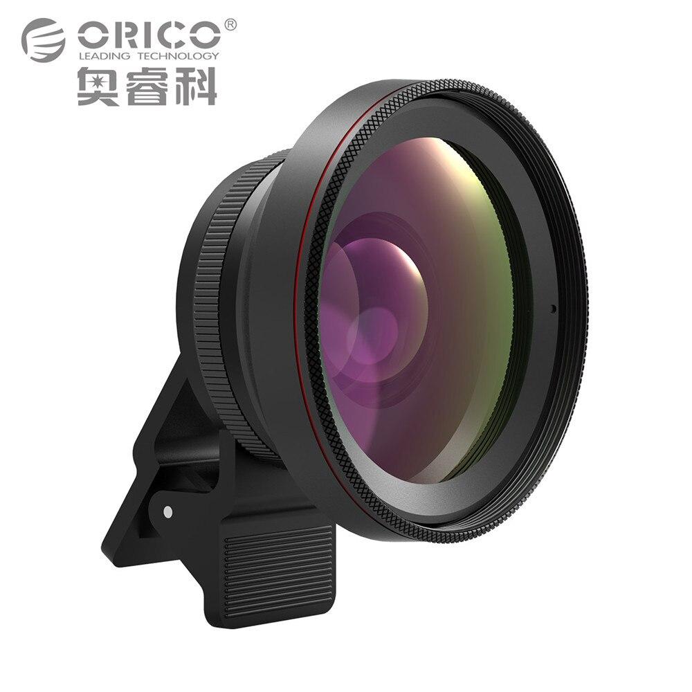 ORICO Объективы для мобильных телефонов Камера объектив 2 в 1 0.6X широкоугольный объектив с зажимом 15X макро HD Универсальный для Android для iphone