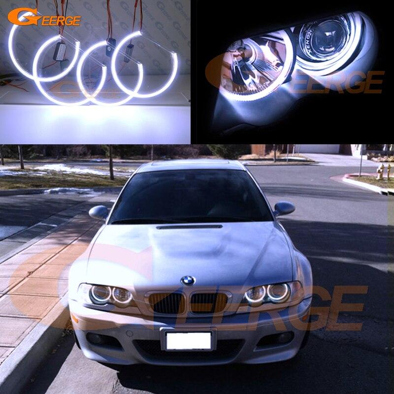 Pour BMW E36 E38 E39 E46 3 5 7 série phare xénon Excellent éclairage Ultra lumineux COB led ange yeux kit halo anneaux