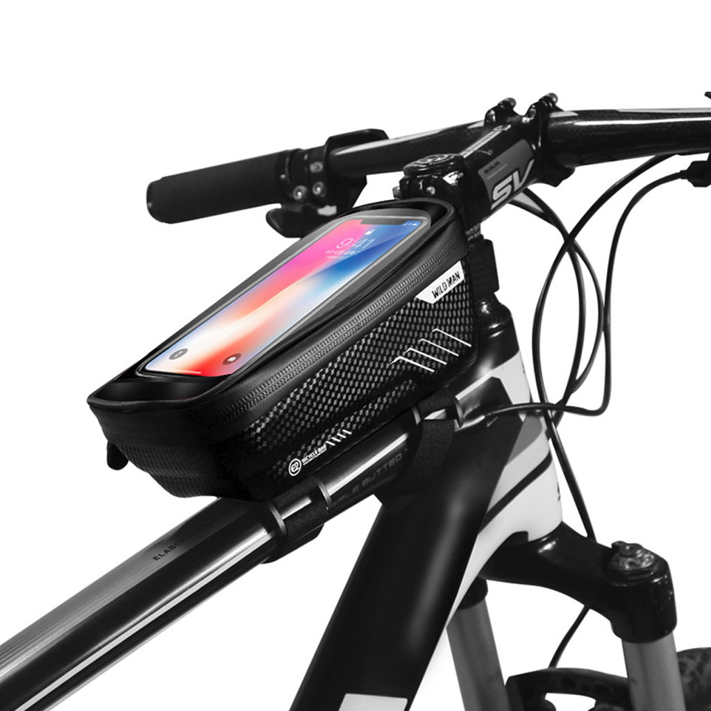 Mountain Bike Bag Rainproof Waterproof Mtb Front Bag 6.2inch Mobile Phone Case Bicycle Top Tube Bag Cycling Accessories