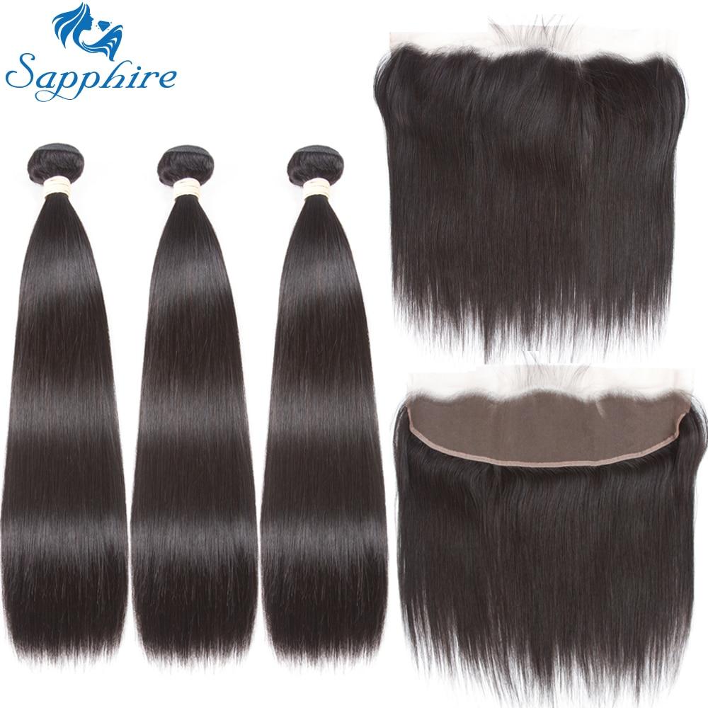 Sapphire Peruvian Straight Remy vlasové tkaničky 3 svazky s 360 - Zařízení pro kadeřnické salóny
