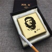MR. K HQ102 Pirinç Sigara Kılıfı Vintage Tarzı Che Guevara metal sigara kutusu Lazer Oyma Sonsuza Kadar Sigara Kutusu|Sigara Aksesuarları|Ev ve Bahçe -