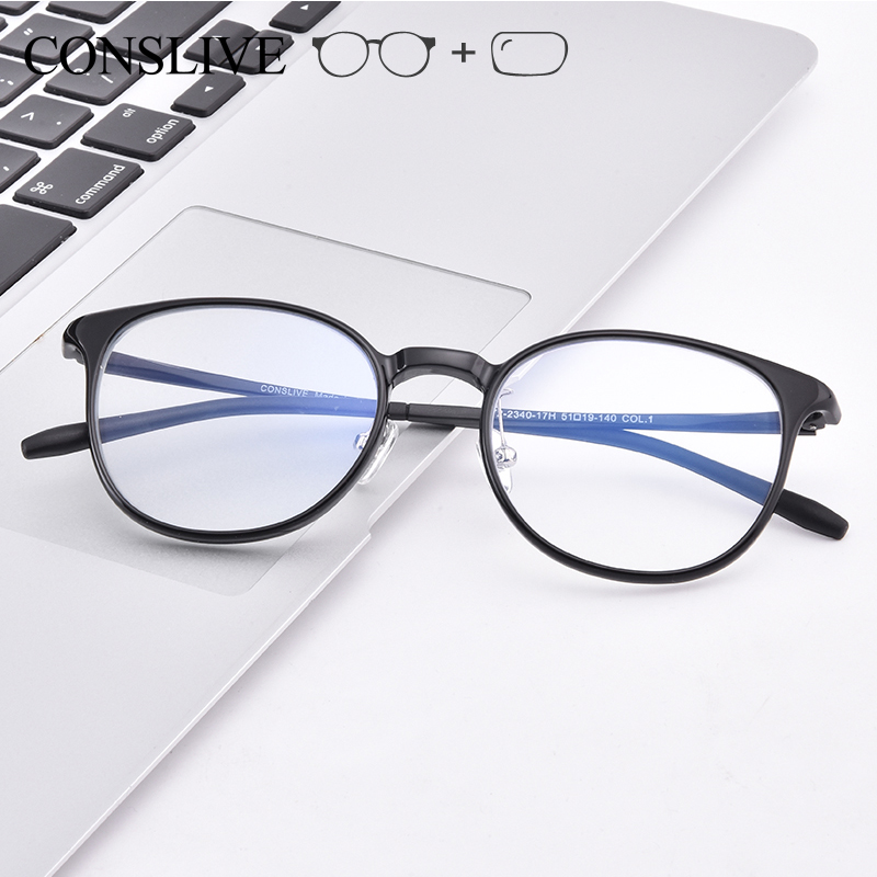 CONSLIVE Multifocal Prescription Glasses for Women Dioptric Eyeglasses Frame
