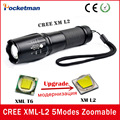 E17 Cree XML-L2 5 Modes 4000 Lumens lanterna waterproof Torch light zaklampen LED Flashlight Zoomable Lantern Free Shipping