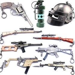 Горячая игра Playerunknown's Battlegrounds 3D брелок 15 стилей PUBG брелок с подвеской в виде кастрюли забавное детское игрушечное ружье аксессуары для шлема