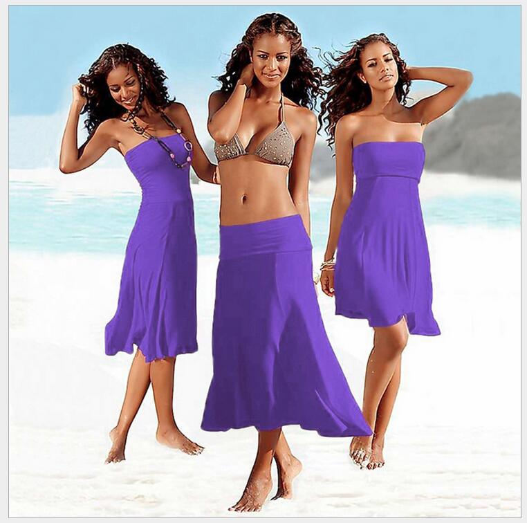 New Style More Method Worn Swimsuits Dress Bra Wrap Chest Beach Wear Dresses Covers Up Bathing Suits 11 Colors For Choose De69 In Cover Ups From Sports