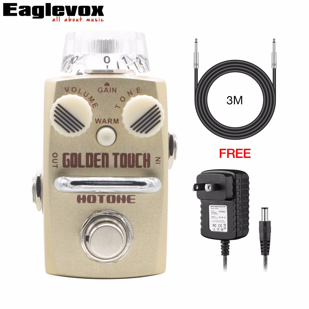 Hotone GOLDEN TOUCH Overdrive Pedal Skyline Series Guitar Effects with Free Power Adapter and 3m Cable furuyama m ando modern minimalism with a japanese touch taschen basic architecture series