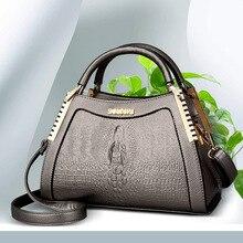 De La mujer de Moda Bolso de cocodrilo bolso de hombro marcas famosas bolsas de mensajero de cuero del diseñador de lujo de Negocios bolsa bolsa feminina