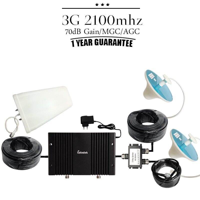 Couverture grande surface 70dB Gain 3G WCDMA 2100 Booster de téléphone portable répéteur de Signal cellulaire affichage LCD 3G UMTS 2100 mhz amplificateur #50