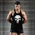 Skulls gyms clothing bodybuilding stringer tank tops fitness men shark vest gorilla golds wear muscle singlets sleeveless shirt