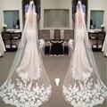Cathedral Veil 2017 2.6 Meter Long Lace Wedding Veils 2017 Bridal Veils White Long Wedding Veils veu de noiva longo com renda