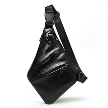 Men's Fashion Crossbody Bag PU Leather Chest Bags Water Repellent Men Shoulder Bags Storage Wallet Chest Waist Pack a2100 u pick fashion fresh transparent water repellent cosmetic bags