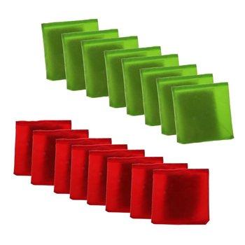 16 Pcs Canvas Double Layer Cornhole Bag Bean Bag Tossing Corn Hole Game Outdoor Family Children Kids Backyard Fun Toys Game