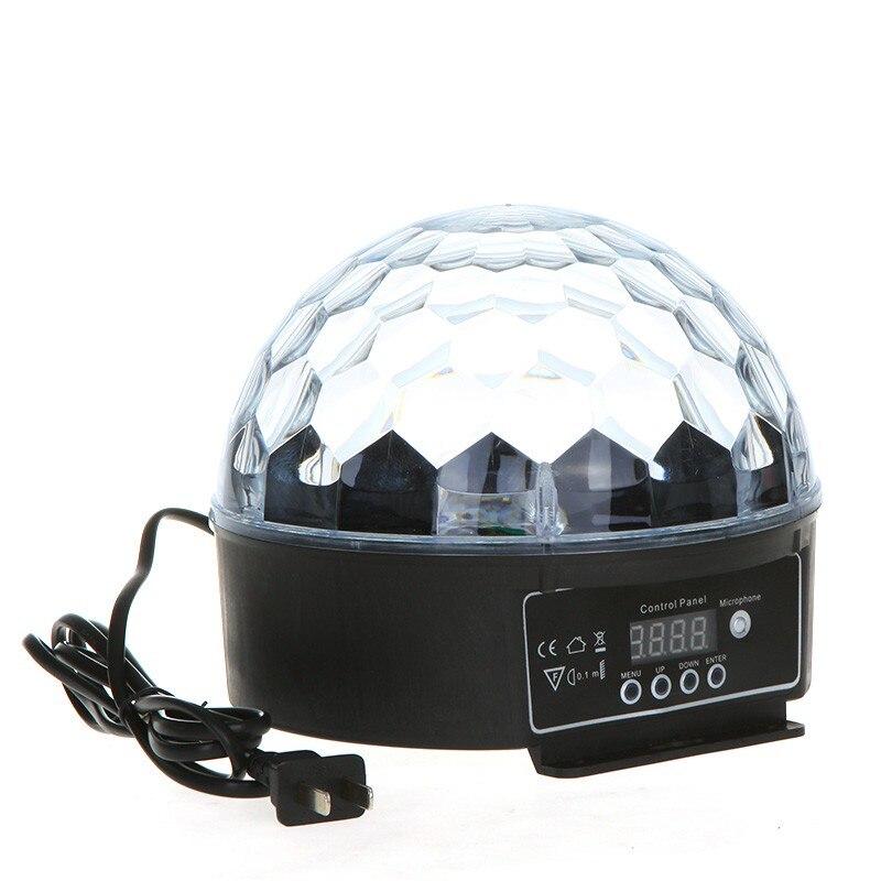 20 W LED numérique RGB cristal boule magique effet lumière DMX 512 Disco DJ scène éclairage 8 couleurs 110-220 V lampe de fête de mariage