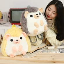 kawaii backpack plush toys stuffed animal doll cute hedgehog handbag schoolbag Christmas gift for kids children