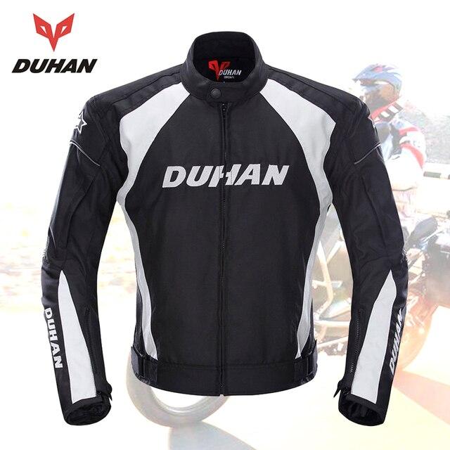 Chaqueta de Moto DUHAN para hombre a prueba de viento para carreras de carretera Chaquetas deportivas ropa de equipo de Moto con cinco protectores