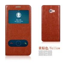 Оригинал aimak натуральная кожа смарт окно флип стенд cover case для samsung galaxy c5 c5000/c7 c7000 роскошный мобильный телефон сумка