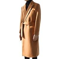 S 5XL! 2018 Для мужчин шерстяные пальто, длинная стильная Корейская версия стиле британский стиль
