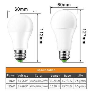 Image 2 - IP44 Led Sensor Lamp E27 10W 15W 220V 110V B22 Schemeringsdimmer Gloeilamp Dag nachtlampje Sensor Lamp Voor Thuis 2000K Anti Muggen