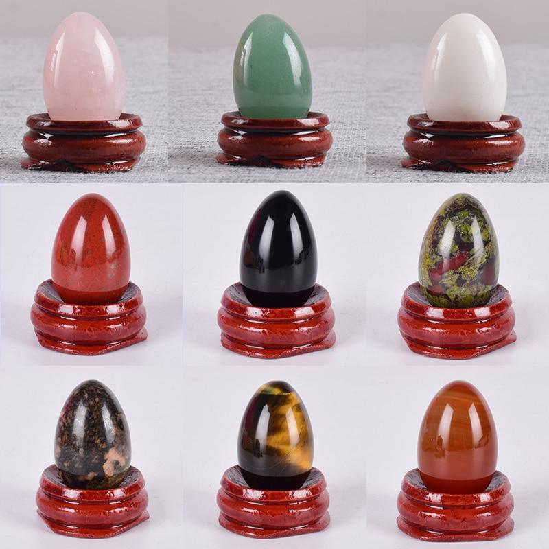 Yoni Egg 100% Natural Stone Healing Jade Crystal Egg Mineral Ball Kegel Exercise Pelvic Floor Muscle Vaginal Health Care Massage
