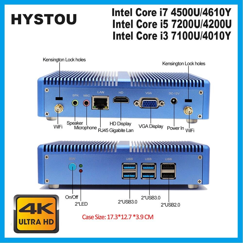 Core i7 Mini PC 4500U Windows 10 pro Безвентиляторный Компьютер celeron 2955u HDMI HD 4K HTPC Linux Настольный Linux i5 7200U DDR4 ram Мини ПК      АлиЭкспресс
