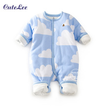 Baby winter infant cotton filling thick snowsuit  keep warm newborn baby girl boys soft clothes snowsuit for boys winter coats