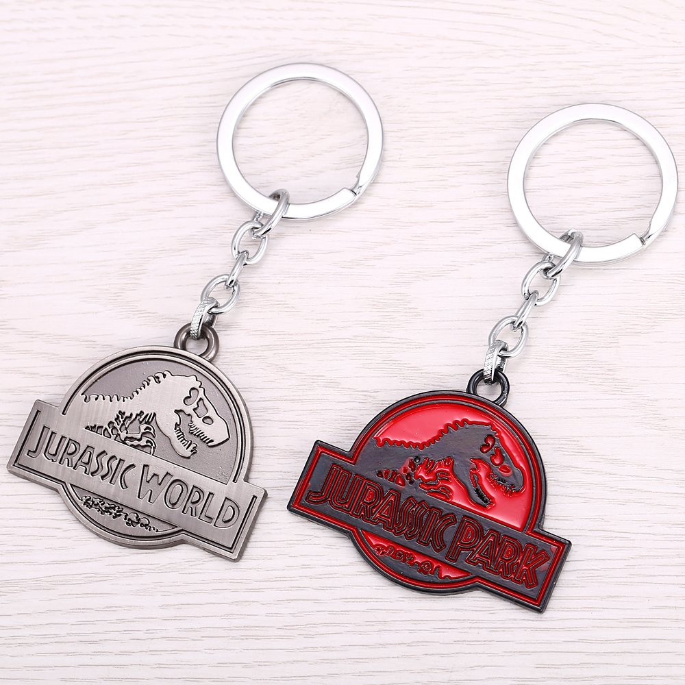 MS JEWELS Jurassic Park Key Chain Jurassic World Metal Key Rings For Chaveiro Keychains
