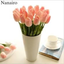 30 teile/los DIY PU Tulpe Künstliche Blume Bouquet Für Home Hochzeit Dekoration Real Touch Gefälschte Blume Festival Liefert