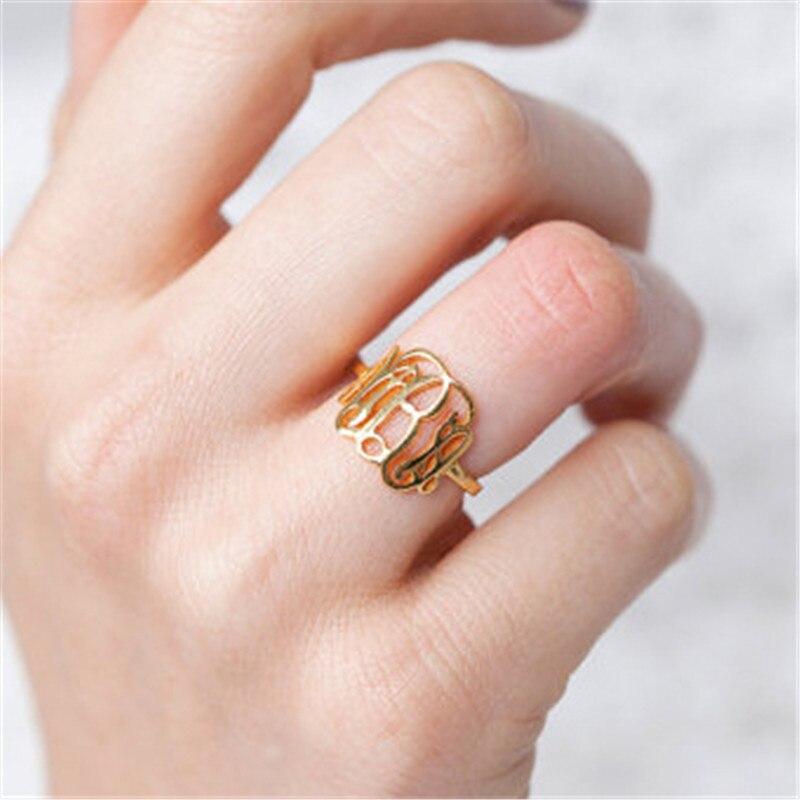 Özel Özel Kişilik Monogram Harfleri Cooper / Paslanmaz Çelik / - Kostüm mücevherat - Fotoğraf 2