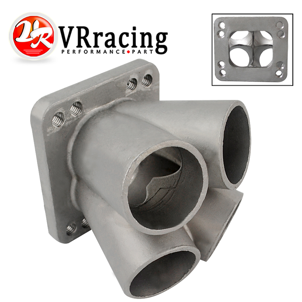 VR - Cast Stainless Steel 4-1 Turbo header manifold Merge collector T3 T4 with T3 Flange VR-THM01-4 цена 2017