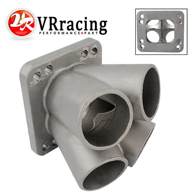 VR - Cast Stainless Steel 4-1 Turbo header manifold Merge collector T3 T4 with T3 Flange VR-THM01-4