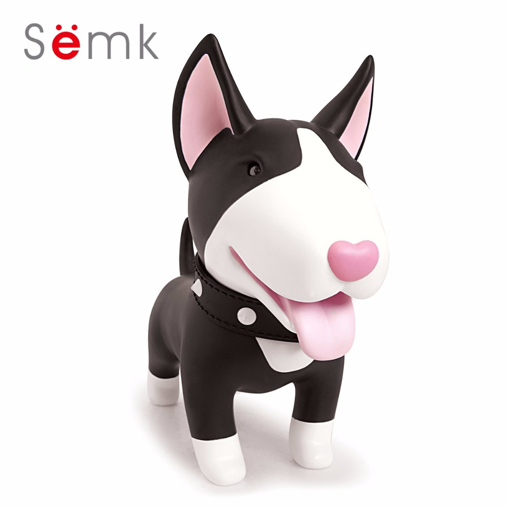 Semk Dog Action Figur Pengar Box 20cm PVC Bull Terrier Figur Mynt - Toy figuriner