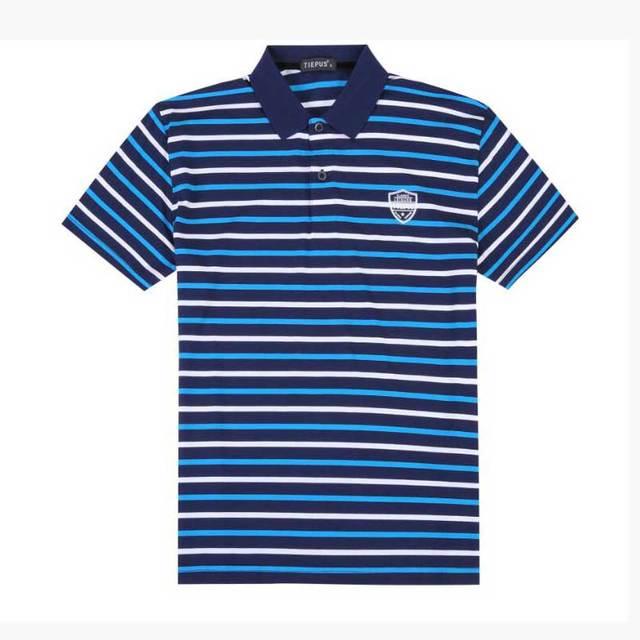 Roupas de Marca Nova Camisa Polo Dos Homens do Polo Camisa Business Casual  Polo Listrada Tee f01386cb79927