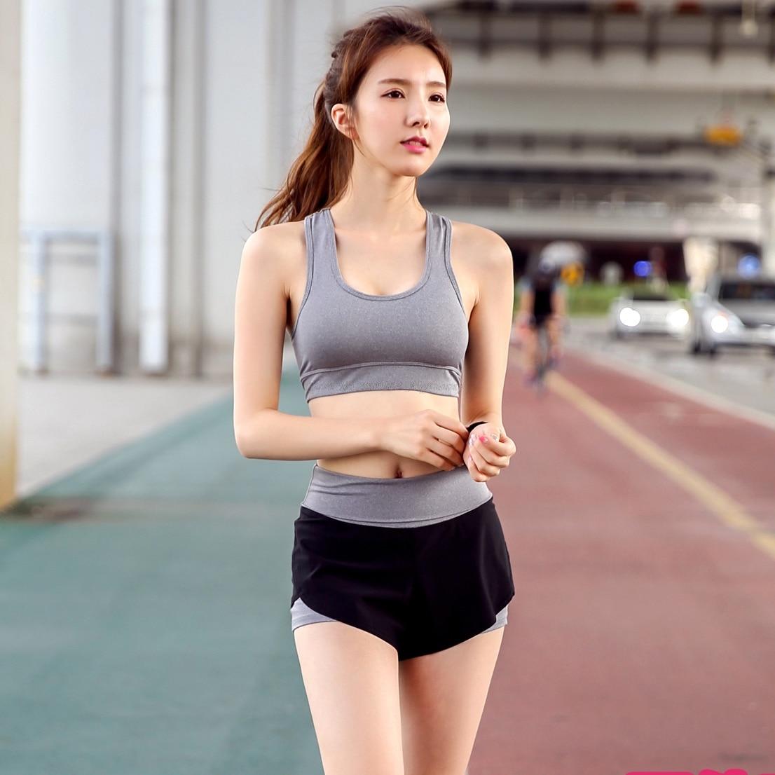 Conjunto de yoga para mujeres sexy (compresas push up deportivos y - Ropa deportiva y accesorios