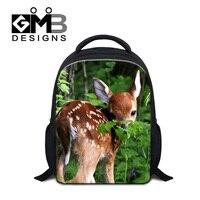 Dispalang 12 Inch Small 3D Animal Backpacks Zoo Deer Elk Printing Backpack Kids Cartoon School Bags