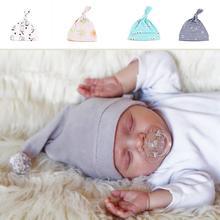 New Cotton Tire Cap Newborn Baby Newborn Baby Hat Sets Of Headgear Sleep Hat Infant Q2