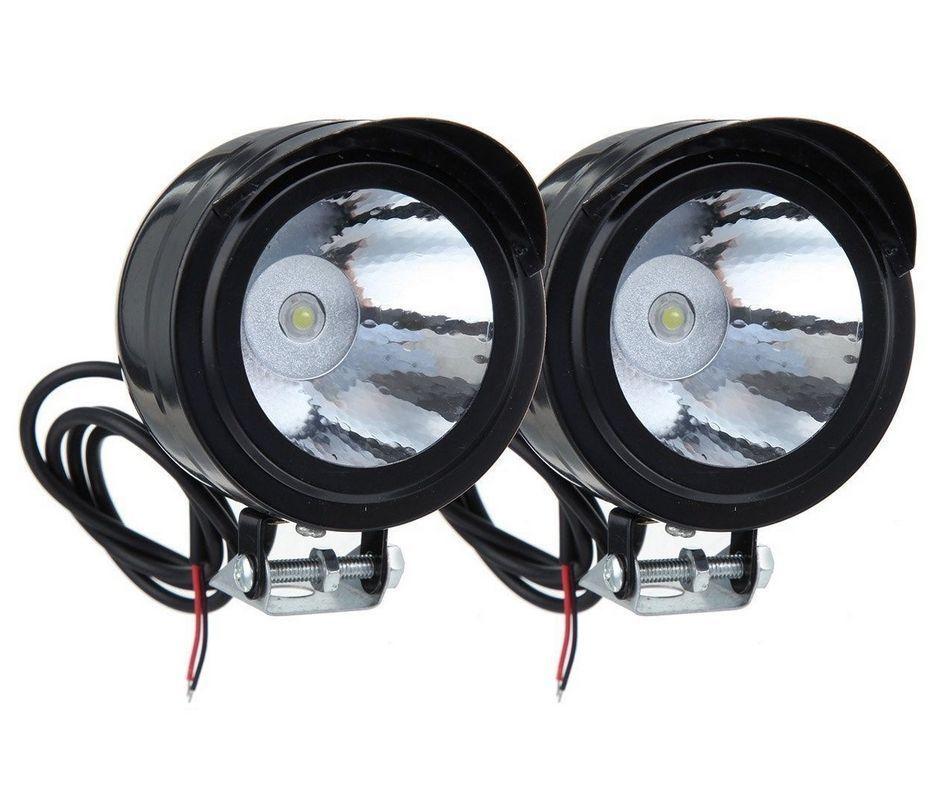 2 Pcs Electric Bike Motorcycle Led Headlight Work Light