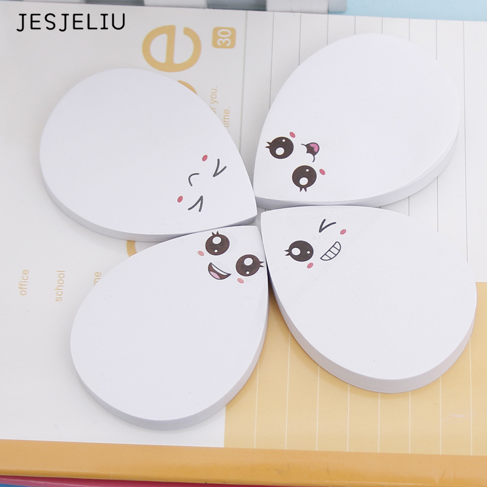1PCS new Waterdrop Shape Memo Pad Sticky Notes Notebook Stationery School Supplies Material Escolar Kawaii wholesale rainbow northern europe memo pad paper sticky notes notepad post it stationery papeleria school supplies material escolar