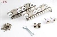Premintehdw 304 Stainless Steel Hanging Sliding Wooden Door Roller Rollers 8 Wheels 120KG
