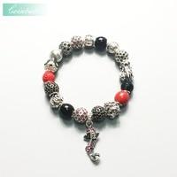 Fish Beads Bracelets Link Chain 925 Sterling Silver Ts Trendy Gift Thomas Style Karma Diy Bracelet Fashion Jewelry For Women