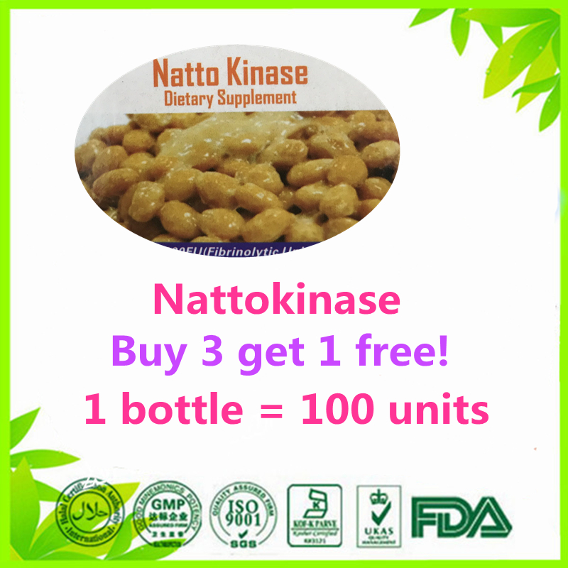 (Buy 3 Get 1 Free) nattokinase 100 units thrombolytic longevity cardiovascular care natto