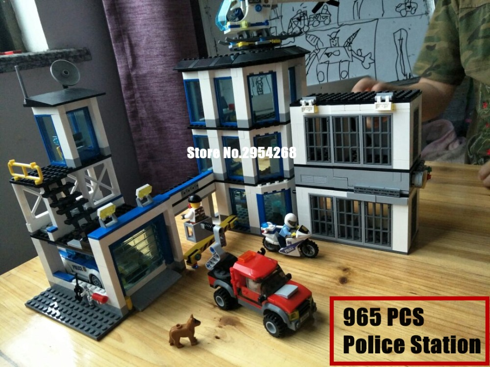 02020 NEW City Series The New Police Station Set children Educational model Building Blocks Bricks Funny diy Toys kid Gift 60141 [small particles] buoubuou educational toys toy bricks series new police station 7015 police