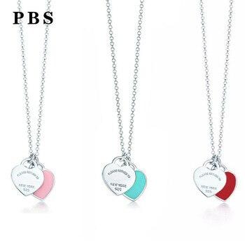 9f24c78b362c PBS 100% Plata de Ley 925 Original copia de alta calidad 1 1 Tiff collar en  forma de corazón gratis fabricantes al por mayor