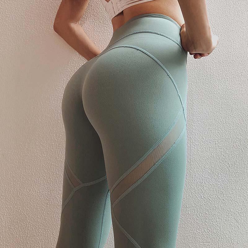 Laufen Sport Leggins Frauen Hohe Taille Dünne Yoga Leggings Training Jogging Neue Fitness Hosen Hohe Elastische Yoga Hosen Yogahosen Sport & Unterhaltung