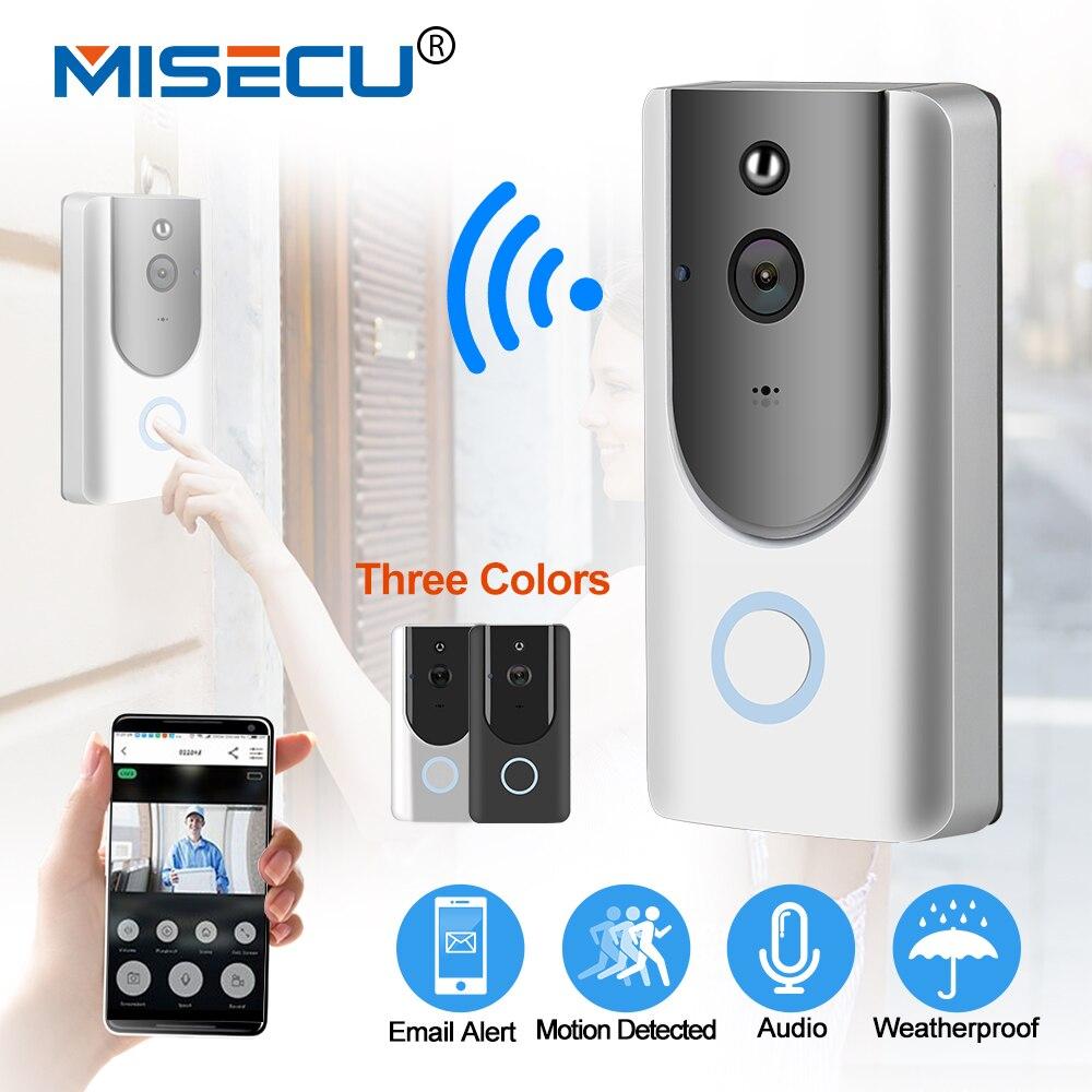 MISECU IP видеодомофоны Smart Wi Fi дверные звонки с камерой 720P телефон ночное видение ИК обнаружения движения батарея Мощность камера